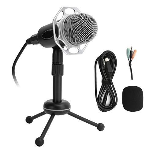 Micrófono de pie Y20, micrófono retro con cable y trípode de...