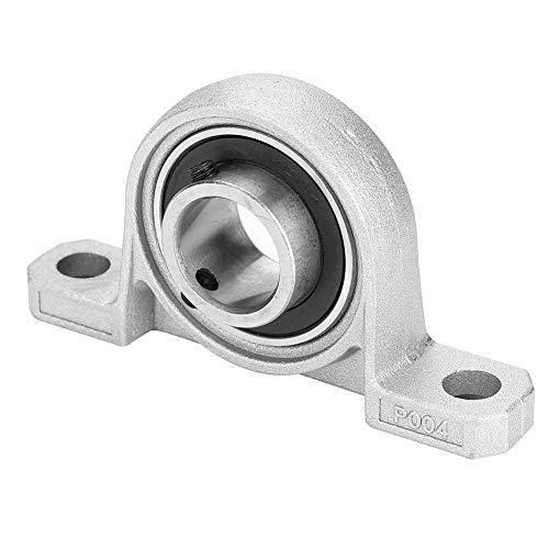 KP004 Centro de ajuste auto montable Orificio de inserción de 20 mm Tornillo horizontal Tornillo de eje de bola de metal Diámetro automático Autoajuste Rodamientos de soporte de bloque de brida