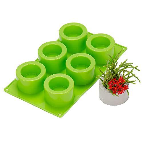 Nicole - Vaso per piante grasse 3D in silicone, muffa, gesso, cemento, carne, bonsai, fai da te, portacenere in silicone