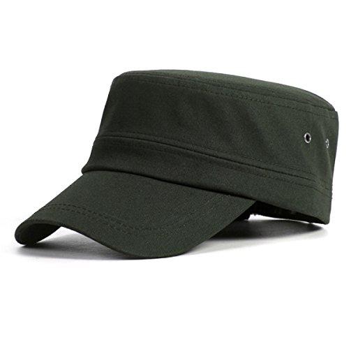 ROMEYA Primavera E Autunno Cotone All'aperto Giovani Uomini Cappello Piatto Cappello del Sole Berretto da Baseball,10-55-61cm