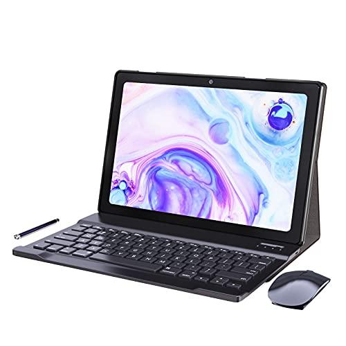 Tablet 10 Pulgadas Android 10.0 - YUMKEM Tableta 4GB RAM 64GB ROM 1.8 GHz | WiFi | Bluetooth | GPS | Teclado Bluetooth | ratón inalambrico |, Gris
