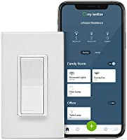 Leviton DW15S-1BZ Decora Smart Wi-Fi 15A Universal LED/Incandescent Switch, Works with Amazon Alexa, No Hub Required,...