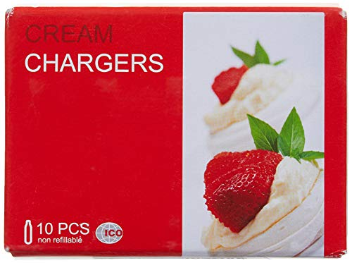 ICO - Cartucho para sifón de crema chantilly (N2O, 10 cargas)