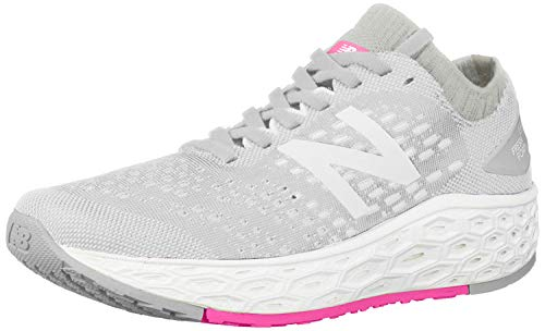 New Balance Women's Vongo V4 Fresh Foam Running Shoe, Light Aluminum/White, 7 B US