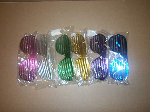 Schnooridoo 4 x metallic Atzenbrille Bunte Farben Atzen Brille Party Karneval Partybrille