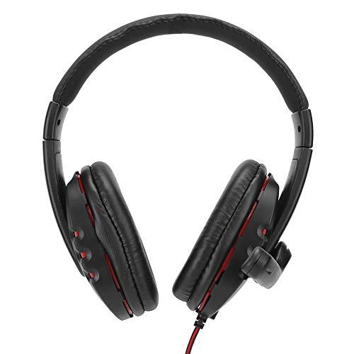 Bindpo Gaming-Headset, tragbare On-Ear-Kopfhörer, 3,5 mm Stereo-Sound, mit Mikrofon für PC/PS4, zum Ansehen von Filmen, Spielen