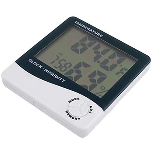 Digital LCD Température Humidité Mètre Jauge Horloge Alarme Thermomètre Nouveau chaud dans/extérieure hygromètre