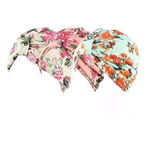 Winslet Winslet Chemotherapie Krebs Kopf Schal Hut Kappe ethnisch Stoff Aufdruck Turban Kopfbedeckung Damen Stretch Blume Muslime Kopftuch