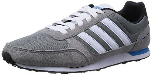adidas Herren F97875 Laufschuhe, Mehrfarbig (Grey/Ftwwht/Solblu) 48 EU
