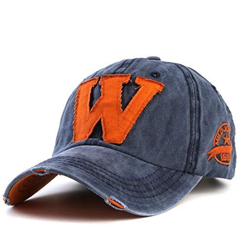 MNZJGAL Berretto da Baseball in Cotone Ricamato Lettera W Cappellini Snapback Montati Cappello in Osso per Cappelli Personalizzati da Uomo