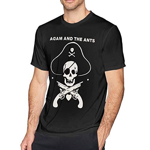 Camiseta Suave Adam The Ants Hombre Negro, L