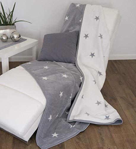 CB Home & Style Wohndecke Stars mit Einfassband 150 x 200 cm