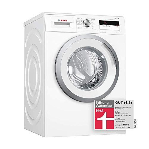 Bosch WAN28040 Serie 4 Waschmaschine Frontlader / A+++ / 137 kWh/Jahr / 1400 UpM / 6 kg / Weiß / Nachlegefunktion / ActiveWater™ Mengenautomatik