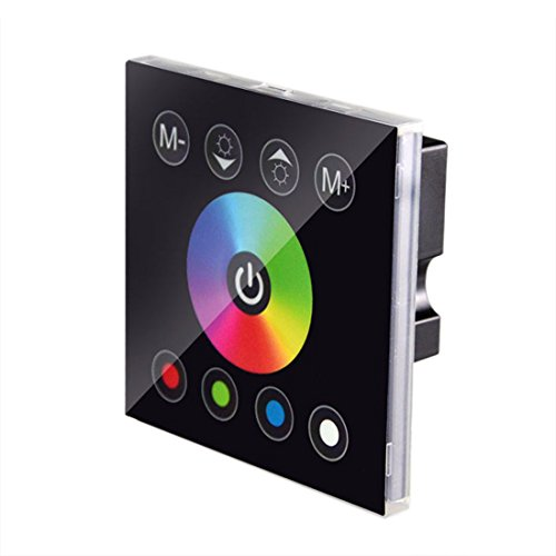 JOYLIT Touch Panel RGBW Controller 4 Kanäle Fernbedienung DC 12V-24V 12A für RGBW LED Streifen