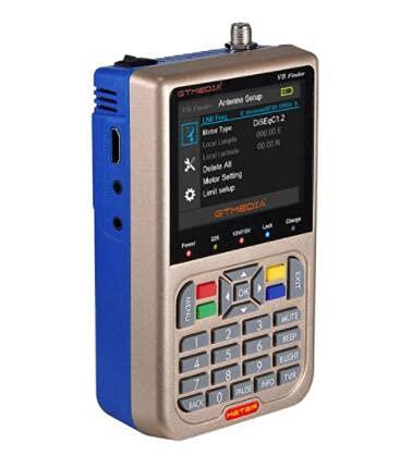docooler V8 Finder Meter Misuratore di segnali TV DVB-S   S2   S2X Misuratore di segnali digitali HD LCD da 3,5 Pollici Dispaly 3000mAh
