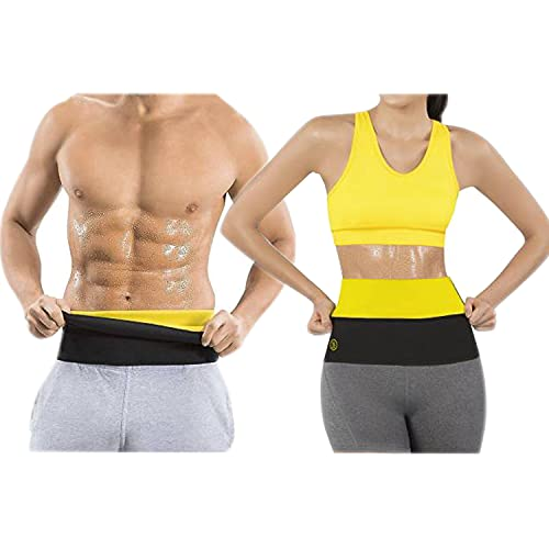 NETCLICK® Shaper Belt Slim Belt for Weight Loss Waist Trainer - Tummy Trimming Exercise Fitness for Both Men and Women (Size M, L, XL, XXL, 3XL, 4XL) (Black)