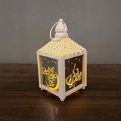 Wowlela Marokkanische Laterne, Vintage Laternenlichtlampe LED Goldenes Metall Klein für Teelicht Kerzenhalter Gartenlaternen im Freien Dekorative Stehlampe (Warmweiß, 125x65mm) [Energieklasse A +]