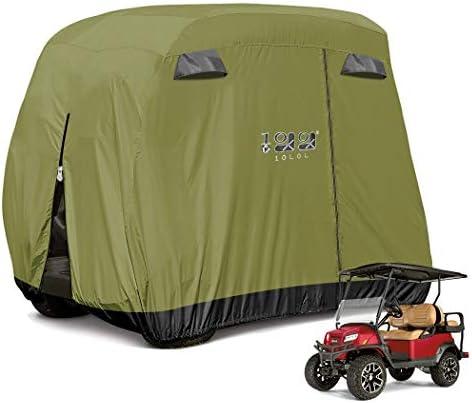 10L0L 4 Passenger Golf Cart Cover Fits EZGO,...