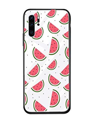 Alsoar Case ersatz für Huawei P20 Pro Hülle Transparent Silikon Handyhülle Durchsichtig Antikratz Schutzhülle,Gehärtetem Glas Rückseite mit Soft Rahmen Tier Shell für Huawei P20 Plus (Wassermelone)