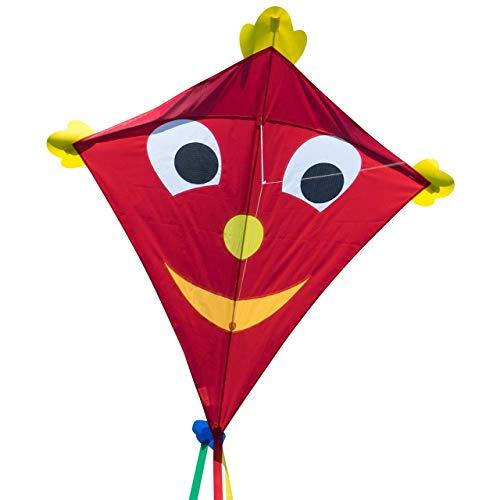 CIM Gran Cometa - SUPERCOMETA Happy Eddy XL - Cometa para niños Mayores de 6 años - 102 x 108 cm - Incluye Hilo de Cometa de 80 m y Colas a Rayas