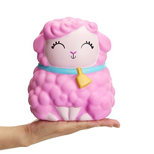 Squishy Jumbo Toy, Squish-Dee-Lish Squishies - Slow Rising Sheep, Soft Kids Squishy Toys