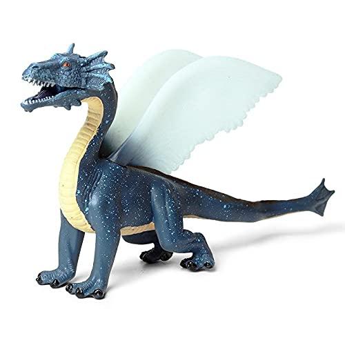 BTSEURY Figura de acción de juguete de dragones de hielo para niños realista modelo de dinosaurio juguetes de regalo de cumpleaños