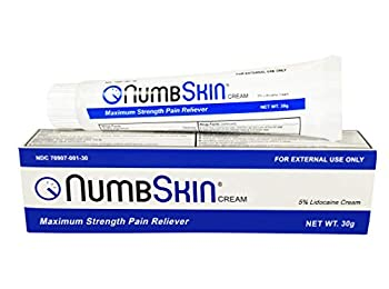 New Numbskin Numbing Cream 5% Lidocaine Topical Anesthetic– Fast Acting Tattoo Numbing Cream for Deep Pain Relief & Numbing Cream for Microneedling/Piercing/Microblading/Laser Hair Removal  1 tube