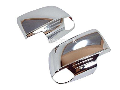 Chrome Side Rearview Mirror Cover Cap Insert Trim For Isuzu D-max Dmax 2012 2013 2014 2015
