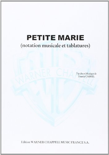 Cabrel Francis Petite Marie Guitar With Tab Sheet