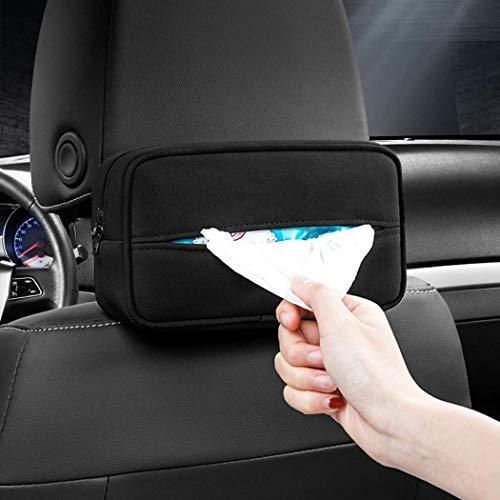 KENNISI Visor Accessories Car Visor Tissue Holder Car Back Seat Headrest Hanging Tissue Boxes Holder for Auto, SUV Holder Backseat Tissue Box(ZJH-b6-Black)