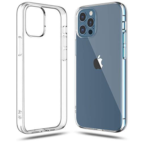 Shamo's Funda Compatible con iPhone 12 Pro MAX Transparente, Suave TPU Gel Fina, Protección a Cámara y Bordes Carcasa Absorción de Impacto