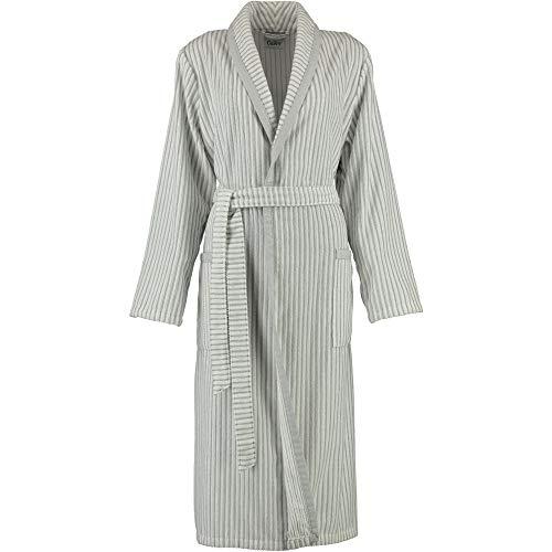 Michaelax-Fashion-Trade Cawö - Damen Bademantel aus Walkvelours mit Schalkragen (3423), Größe:38, Farbe:Weiß/Silber (76)