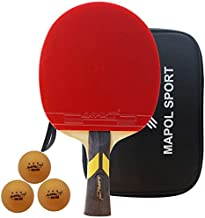 MAPOL Carbon Performance-Level Ping Pong Paddle,Tournament Table Tennis Racket with 7-Ply Blade with Carbon Fiber Technology and Aggressive Rubber,Suitable for Intermediate Level and Above Players