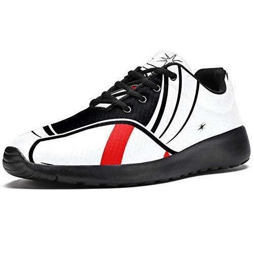 TIZORAX Sport-Laufschuhe für Damen, Bowling-Pins und Ball, modische Sneakers, Netzstoff, atmungsaktiv, Wandern, Tennisschuh, Mehrfarbig - mehrfarbig - Größe: 40 EU