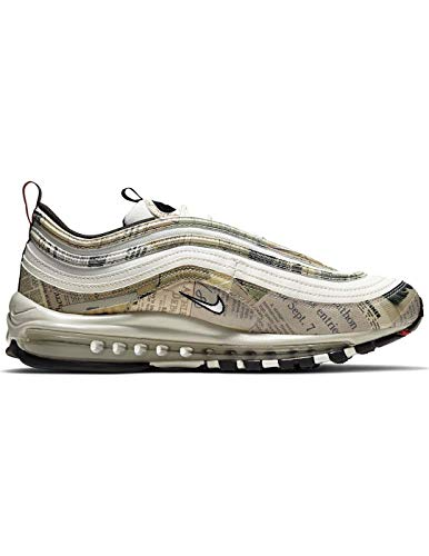 Nike Air Max 97 - sail/White-Black-Team orange, Größe:13