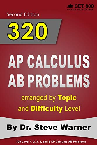 320 AP Calculus AB Problems arranged by Topic and Difficulty Level: 160...
