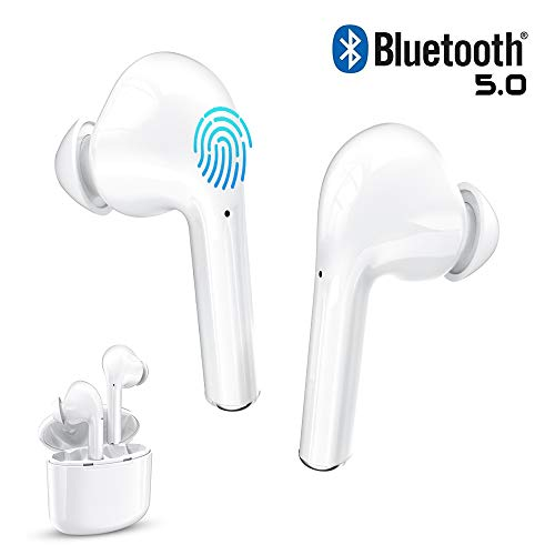 Bueake Bluetooth Earbuds Wireless, Wireless Earbuds Bluetooth 5.0 25H Playtime in-Ear, Hi-Fi Stereo Sound Built-in Mic Earphones with Portable Charging Case for iOS and Android