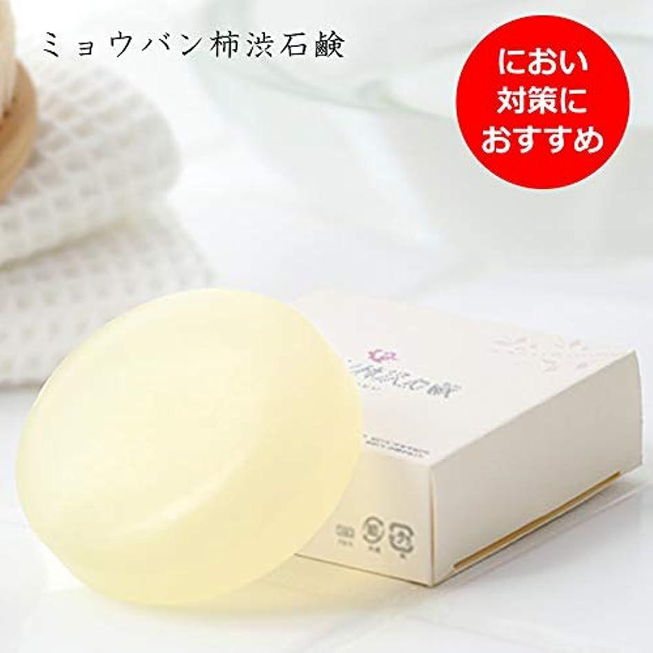 カストディアンオフセットがんばり続ける【単品】ミョウバン柿渋石鹸(ナチュラルクリアソープ) (01個)