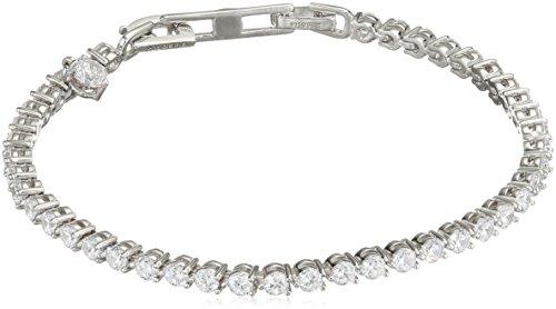 Diamonfire Damen-Armband Eternities 925 Silber rhodiniert Zirkonia Brillantschliff weiß 18.5 cm - 64/0334/1/006