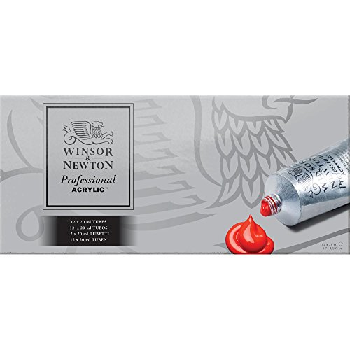 Winsor & Newton Artists' Acrylic Color 6-Tube Set, 60ml