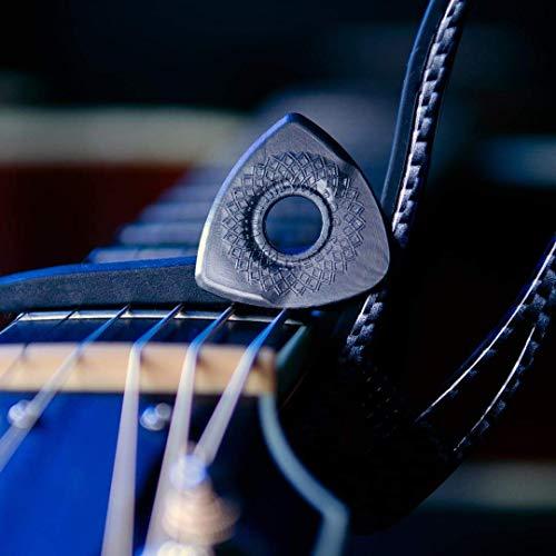 Bog Street AXE CUT Guitar Picks, Light, Acoustic Guitar and Electric Guitar Picks, Black (6-Pack)
