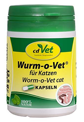 cdVet Naturprodukte Wurm-o-Vet Katze 24 Kapseln - Katze - Ergänzungsfuttermittel - Darmunterstützung - Mangel an Kräuterinhaltsstoffen - Organismusstärkung - überhöhter Wurmbesatz - Gesundheit -