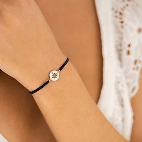 Kompass Armband Geschenknachricht Handarbeit