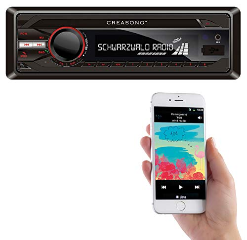 Creasono Radio, Bluetooth: MP3-RDS-Autoradio CAS-3300.bt mit USB, SD, BT & Freisprecher (Autoradio, Bluetooth)