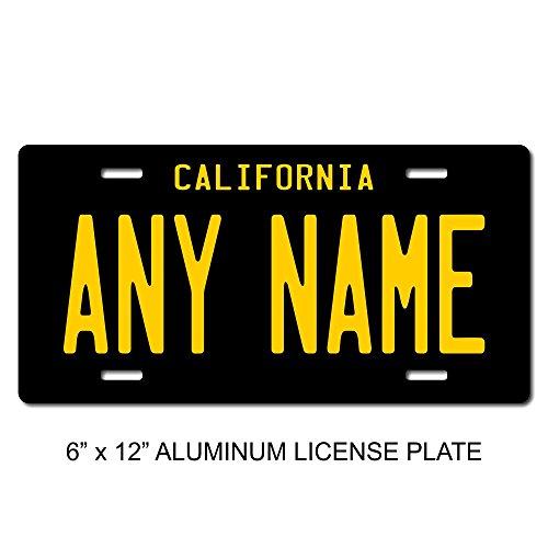 "TEAMLOGO Personalized California License Plate - Sizes for Kid's Bikes, Cars, Trucks, Cart, Key Rings Version 4 (3"" X 6"" Aluminum License Plate)"