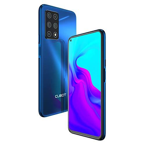 CUBOT X30 Smartphone 15,71 cm (6,4 Zoll), 6+128 GB interner Speicher, Android 10, fünf Kameras, Dual SIM, NFC, Face ID, 1080P Bildschirm, 4200 mAh Akku + Schnellladen(Blau)