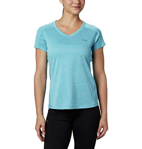 Columbia T-Shirt pour Femme, Zero Rules à Manches Courtes, en Polyester M Bruyère d'eau Claire.
