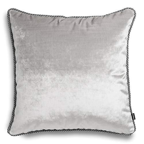 Glamour Cojín decorativo | Alta calidad | Cojín de sofá con relleno y funda | Cojín decorativo de relleno | Fabricado en la UE | 45 x 45 cm