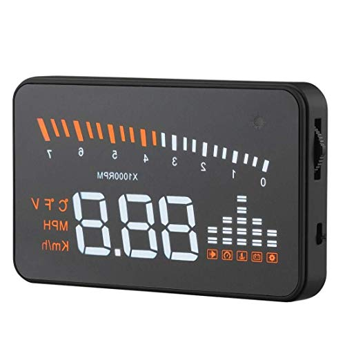 Best Review Of LALAWO Driving Recorder 3-inch Universal Multi-Head Head-up Display with OBDII EOBD S...
