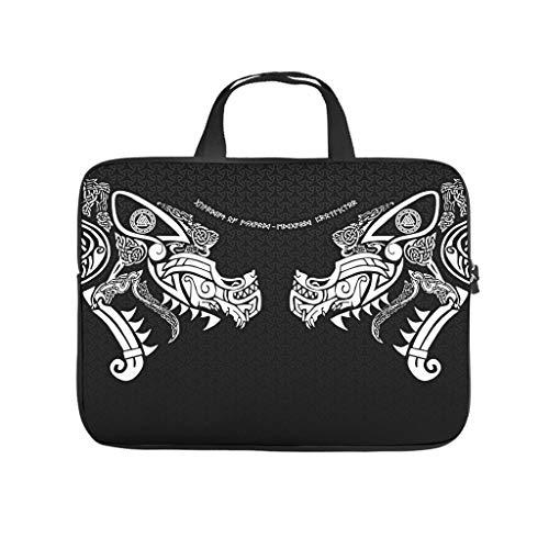 Neoprene Viking Ravens Laptop Sleeve Case Protective Bag - for Work/Business/School/College/Travel white6 12 Zoll
